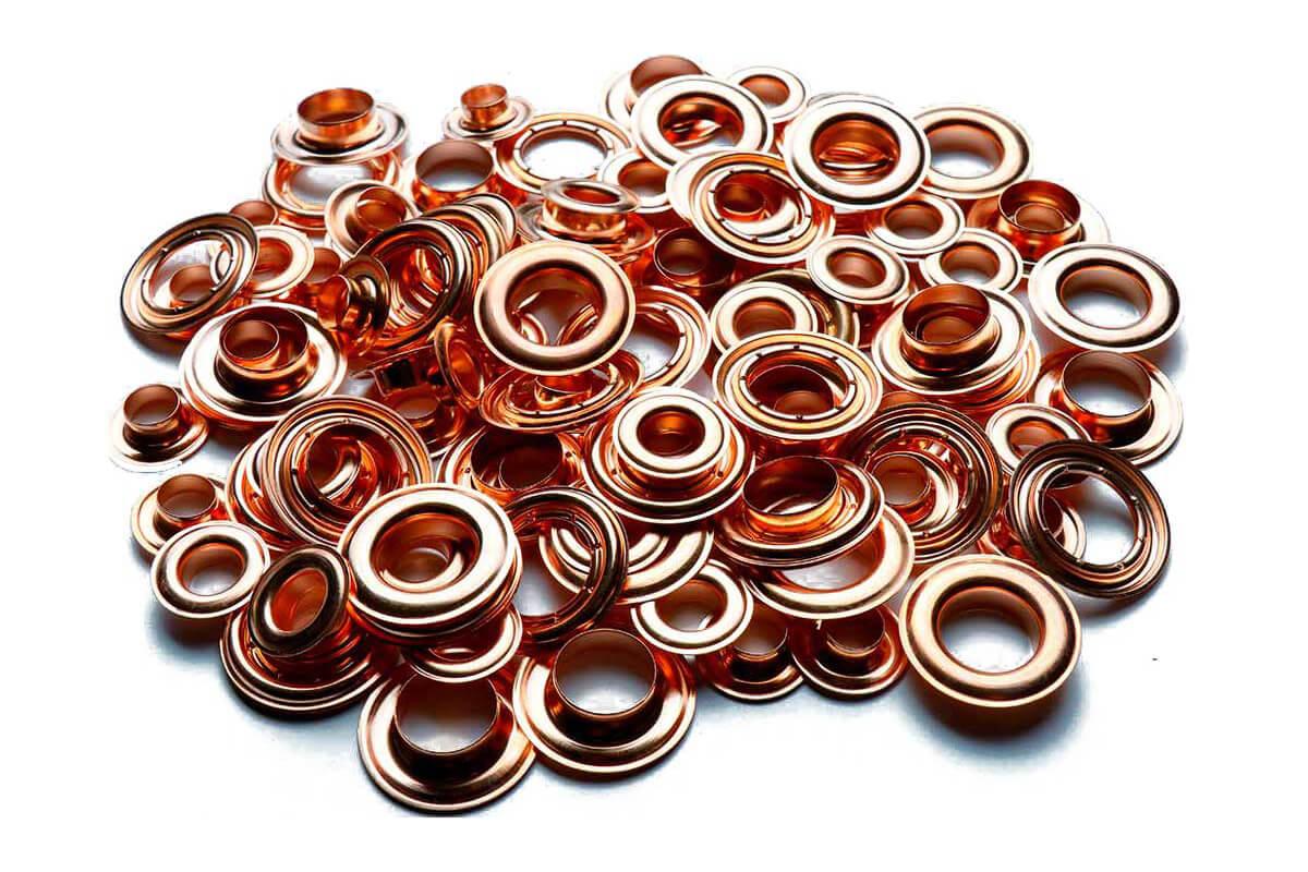 Self-Sterilizing Copper Brass Eyelets